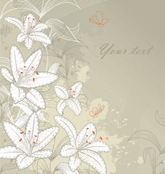 Lilies back vector
