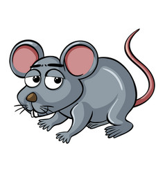 Little mouse with sad face vector