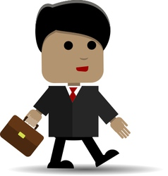Man with a briefcase vector image vector image