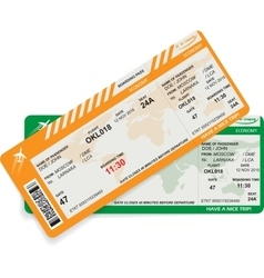 pattern of airline boarding pass vector image vector image