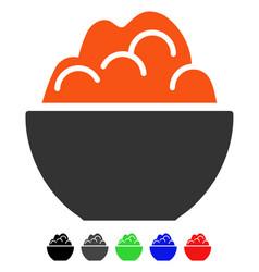 Porridge flat icon vector