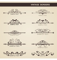 Set of vintage elements vector image
