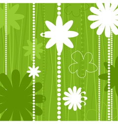 two flowers on a beige background a vector image