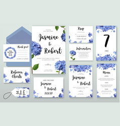 Wedding invitation invite card design with vector