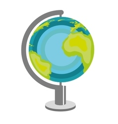 World planet earth map vector