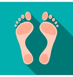 Human feet icon flat style vector