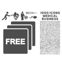 Free icon with 1000 medical business pictograms vector