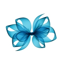 Light blue azure transparent bow top view vector