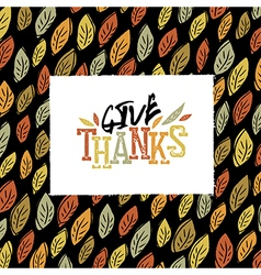 Happy thanksgiving greeting card design logo and vector