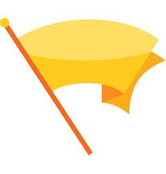 yellow flag vector image