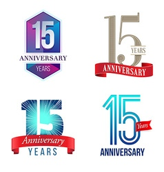 15 Years Anniversary Symbol vector image vector image
