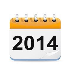 Calendar with 2014 vector