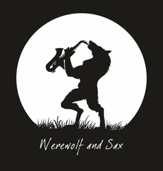 Werewolf and sax vector