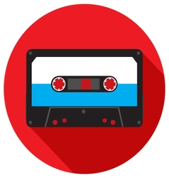 Retro analog audio cassette vector