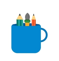 Mug with design tools vector