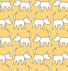 Seamless pattern dog vector