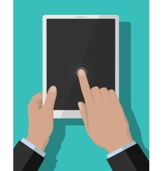 Tablet-pc flat concept vector
