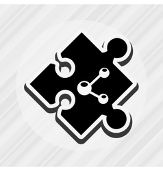 Puzzle piece design vector