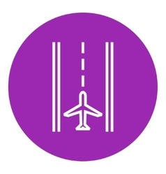 Airport runway line icon vector