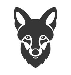 Fox head ligi icon on white background vector