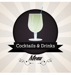 Cocktail glass icon drink and beverage design vector