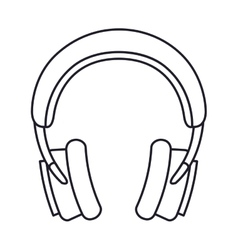 Headphones music isolated icon design vector