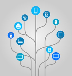 Abstract icon tree - technology vector image