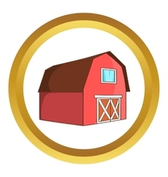 Barn for animals icon vector