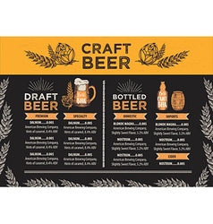 Beer restaurant cafe menu template design vector