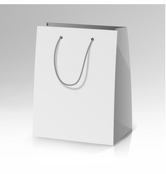 Blank paper bag template realistic vector