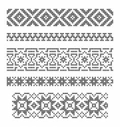 borders embroidery vector image vector image