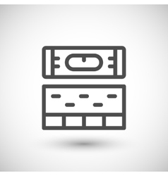 Building level line icon vector image vector image