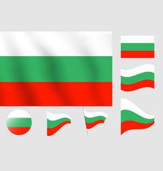 Bulgaria flag realistic flag national symbol vector