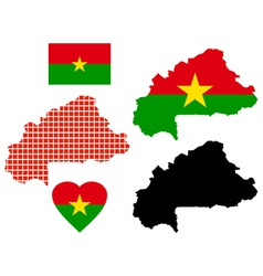 Burkina Faso map vector image