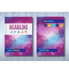 Cover design brochure layout report template vector