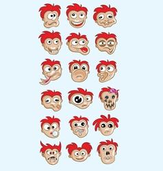 Emotion cartoon face vector image