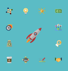 flat icons administration break limit and other vector image vector image