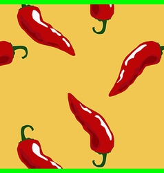 hot chili pattern yellow vector image vector image