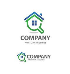 house search logo vector image