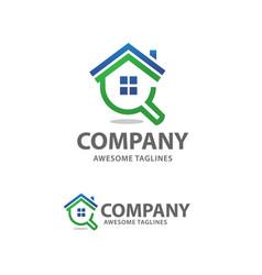 House search logo vector