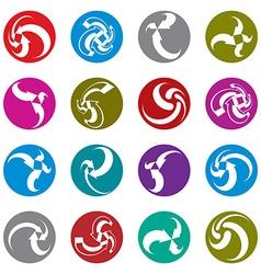 Infinite loop arrows abstract symbol single color vector