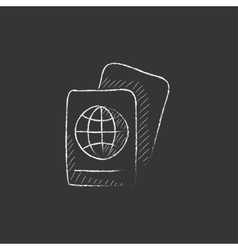 Map drawn in chalk icon vector