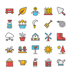 Nature colored icons set 5 vector