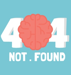 Page not 404 brain error vector image vector image