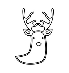 reindeer silhouette isolated icon vector image