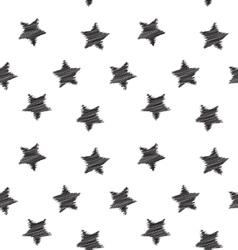 Seamless hand drawing star pattern vector image vector image