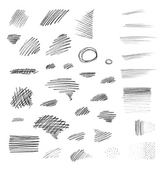 Set of hand drawn pencil strokes vector