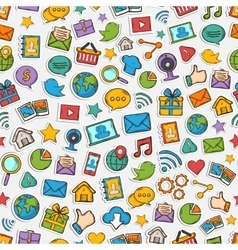 Sticker mobile apps pattern vector image vector image