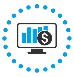 Stock market monitoring icon vector