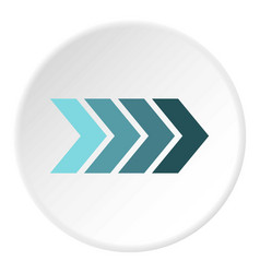 Striped arrow icon circle vector